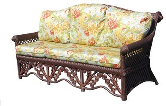 "August Grove Mathys 76"" Round Arm Sofa Fabric: Floral Engagement"