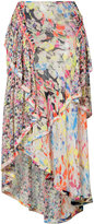 Jason Wu printed asymmetric skirt - women - Silk - 2