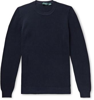 Incotex Slim-Fit Honeycomb-Knit Cotton Sweater