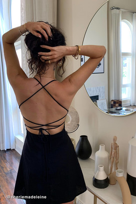 Motel Enif Strappy-Back Mini Dress