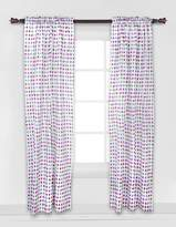 Bacati Botanical Purple Curtain Panel