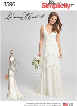Simplicity Leanne Marshall Occasion Gown Sewing Pattern, 8596