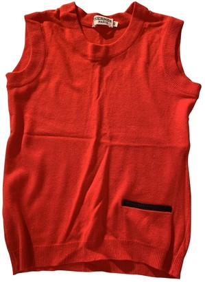 Hermes Red Cashmere Knitwear for Women Vintage