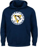 Majestic Men's Pittsburgh Penguins Vintage Lightweight Patch Hoodie