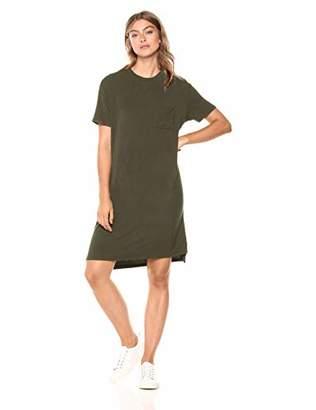 Amazon Brand - Daily Ritual Women's Jersey Short-Sleeve Boxy Pocket T-Shirt Dress