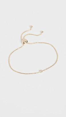 Ef Collection 14k Single Diamond Bezel Bolo Bracelet