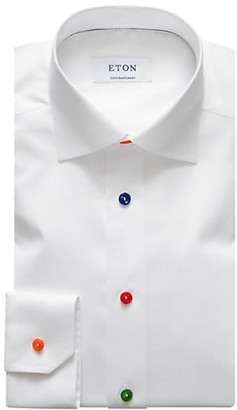 Eton Contemporary-Fit Multi-Color Buttons Cotton Shirt