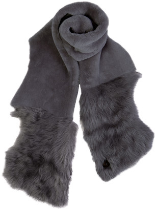 Gushlow & Cole Shearling Baby Mixed Texture Scarf