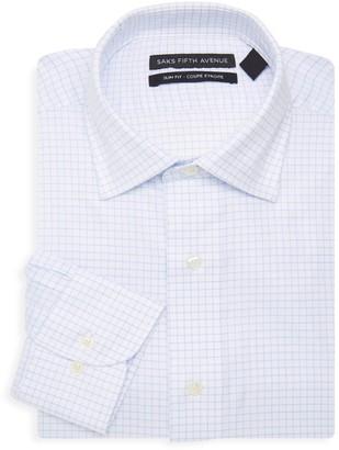 Saks Fifth Avenue Slim-Fit Grid Check Dress Shirt