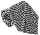 Missoni I0822 Black/cream Herringbone 100% Silk Tie.