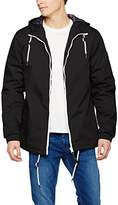 Solid !Solid Men's Jacket - Thang Hooded Long Sleeve Jacket - black -