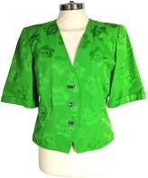 Ungaro Green Cotton Jacket for Women Vintage