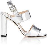 Manolo Blahnik Women's Suede Khan Double-Strap Sandals-SILVER