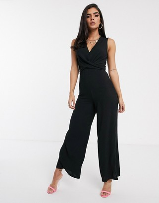 TFNC lace back sleeveless jumpsuit