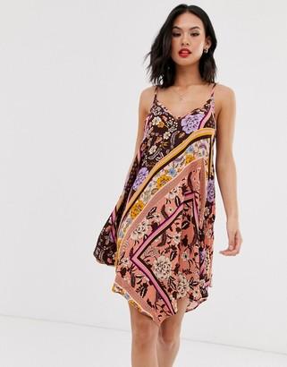 Miss Selfridge mini dress in scarf print