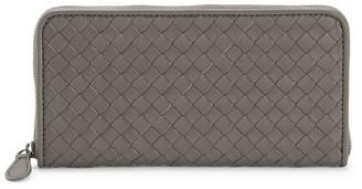 Bottega Veneta Zip-Around Leather Wallet