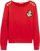 Pierre Balmain Appliquéd Cotton-jersey Sweatshirt - Red