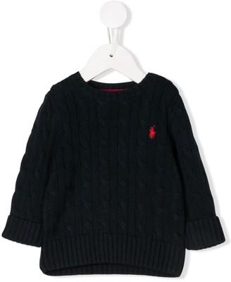 Ralph Lauren Kids cable knit sweater