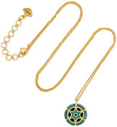 Amrapali 18-karat Gold Enamel Necklace - one size