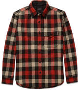 J.Crew Plaid Wool-Blend Overshirt