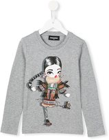 DSQUARED2 diamanté sweet girl top - kids - Cotton - 6 yrs