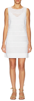 Plenty by Tracy Reese Linen Eyelet Panel Shift Dress
