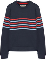 Tory Sport Striped French Cotton-terry Sweatshirt