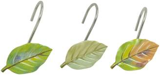 Bacova Guild Waterfall Leaves Ceramic Shower Curtain Hooks