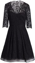 Carolina Herrera Floral Lace Dress