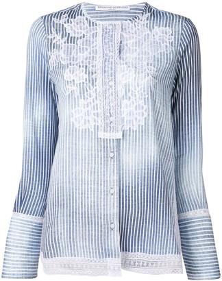 Ermanno Scervino Embroidered Striped Shirt