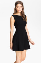 Extended Sleeve Ponte Fit & Flare Dress