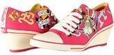 Ed Hardy Bret Wedge Heel Shoe for Women - Neon - 7