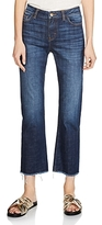 Maje Parisse Cropped Flare Jeans in Blue