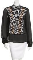 Just Cavalli V-Neck Printed Blouse