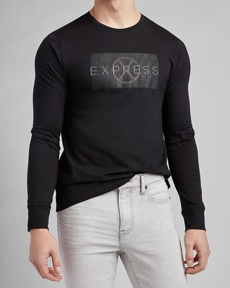 Express Black Logo Long Sleeve Graphic T-Shirt