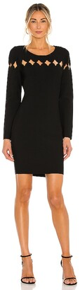 Milly Scallop Cut Out Fitted Dress