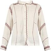 Etoile Isabel Marant Delphine ruffled high-neck blouse