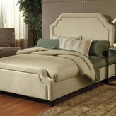 Asstd National Brand Kendale Upholstered Bed with Nailhead Trim