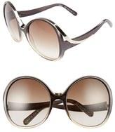 Chloé Women's Mandy Oversized Oval 61Mm Sunglasses - Gradient Black