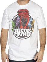 Mighty Fine Men's Vintage Electric Mayhem T-Shirt White Medium