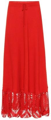 Cashmere maxi skirt