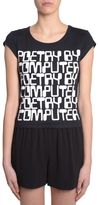 Jeremy Scott T-shirt Poetry By Computer Print