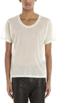 Saint Laurent U-Neck T-Shirt