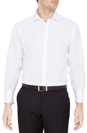 Thomas Pink Solid Poplin Regular Fit Shirt