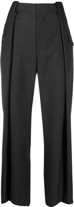 Comme des Garcons High-Waisted Wide-Leg Trousers