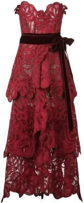 Oscar de la Renta floral lace layered gown