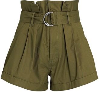 Marissa Webb Dixon Twill Paperbag Shorts