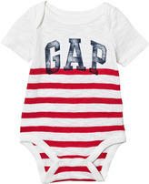 Gap Pure Red Vintage Logo Stripe Body