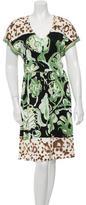 Emilio Pucci Silk Abstract Print Dress