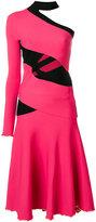 Proenza Schouler asymmetric one sleeve dress